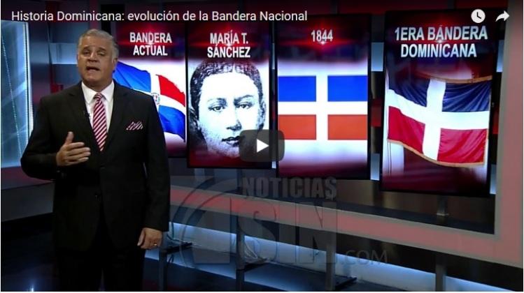 Reportage tv dominicaine sur le drapeau national (capture écran)