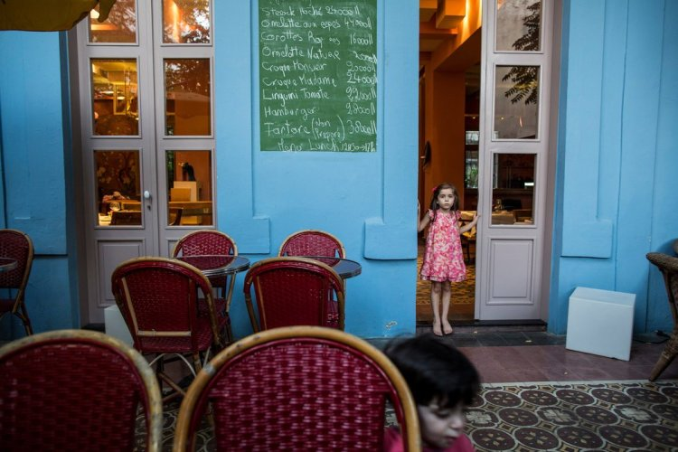 At Villa Clara, the menu is in French. Credit Bryan Denton for The New York Times