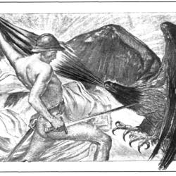 La France libératrice luttant contre l'aigle impérial: telle est l'image qui s'impose après 1918.