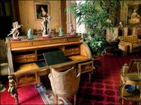 Waddesdon: The Baron's Room. Cylinder-top  desk owned by Beaumarchais.