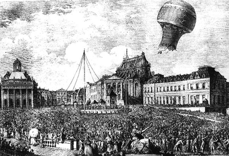 The First Hot-Air Balloon_first-balloon-flight with passengers
