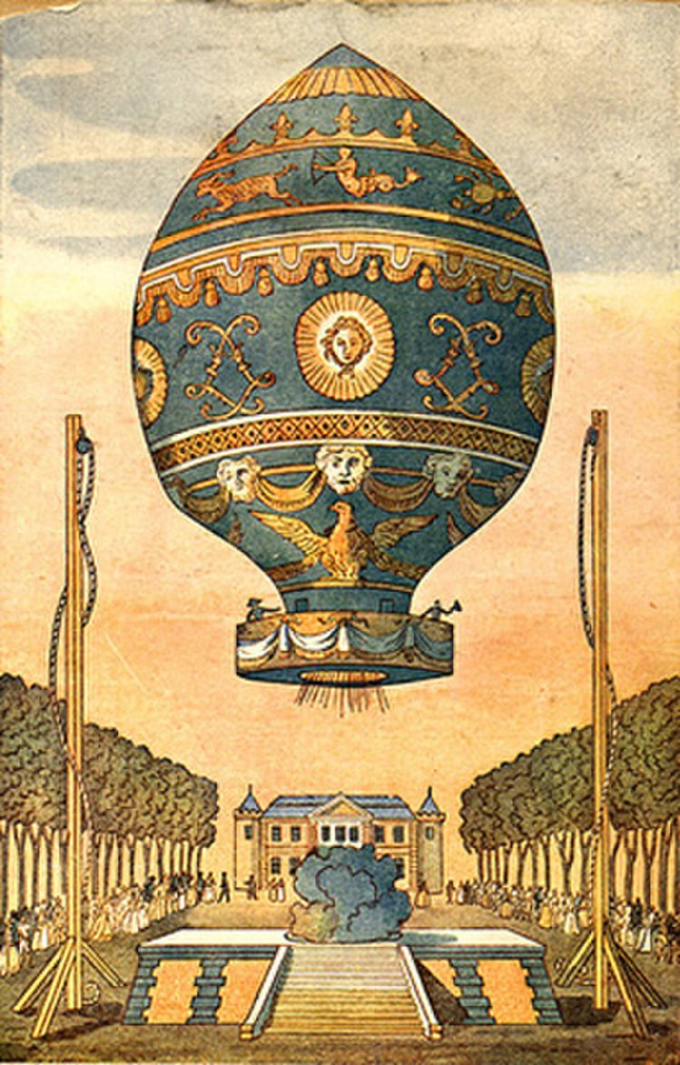 The First Hot-Air Balloon_first-free-ascent