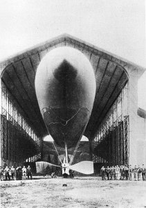 The First Powered Airship_first-airship- to make a round-trip back to its starting point