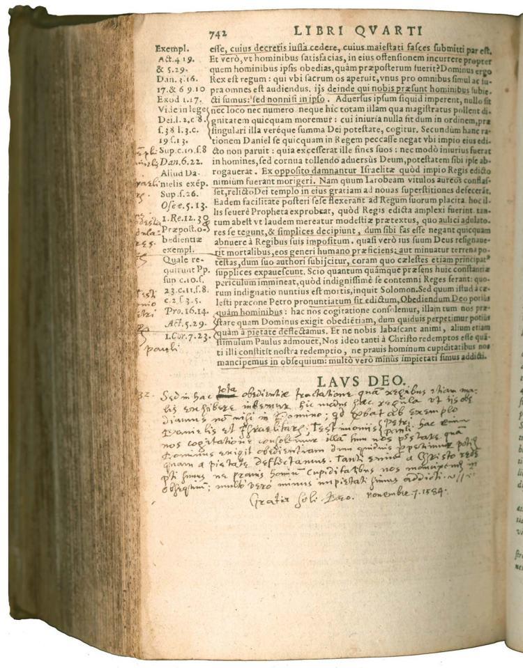 John Calvin's Institutio Christianae religionis