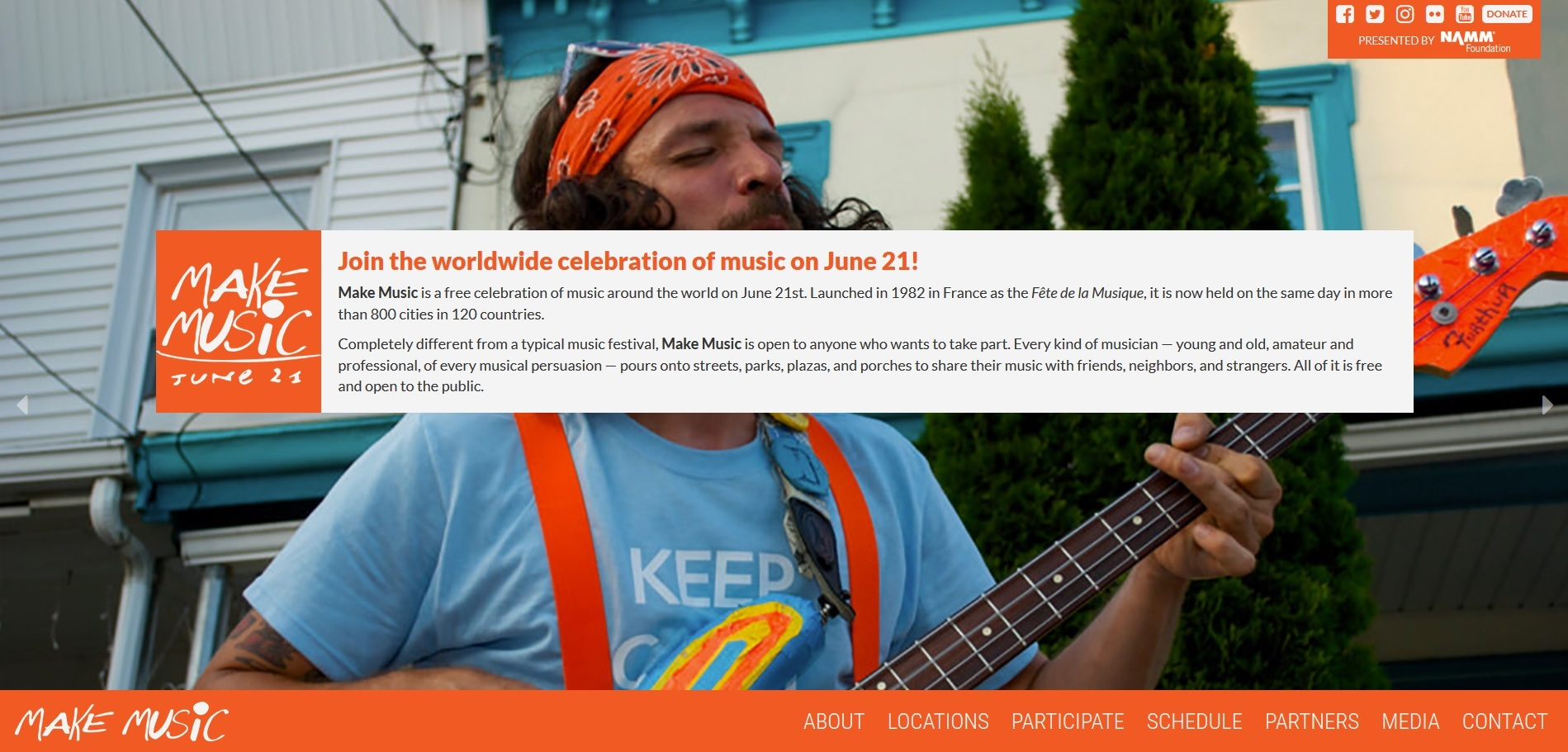 EU, Fête de la Musique le 21 juin