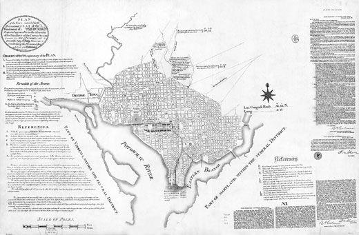 Pierre L'Enfant's plan of Washington, D.C