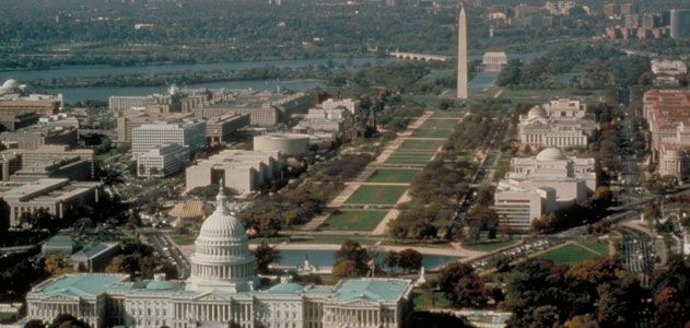 View of the National Mall (Courtesy of the National Park Service)