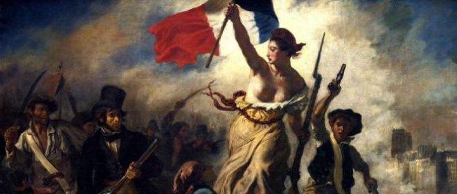 """Tableau d'Eugène Delacroix :""""La liberté guidant le peuple"""""""