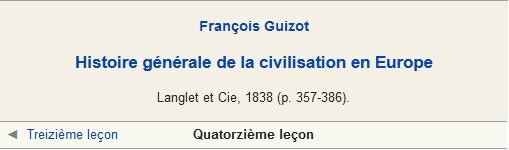 Histoire de la civilisation en [...] Guizot François (quatorzième leçon) v2