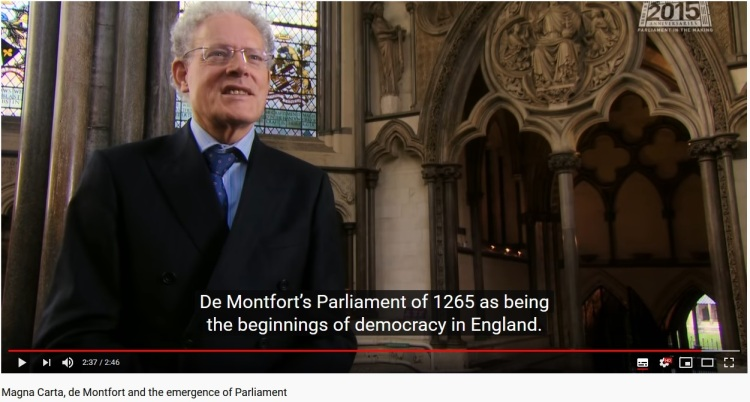 Magna Carta, de Montfort and the emergence of Parliament