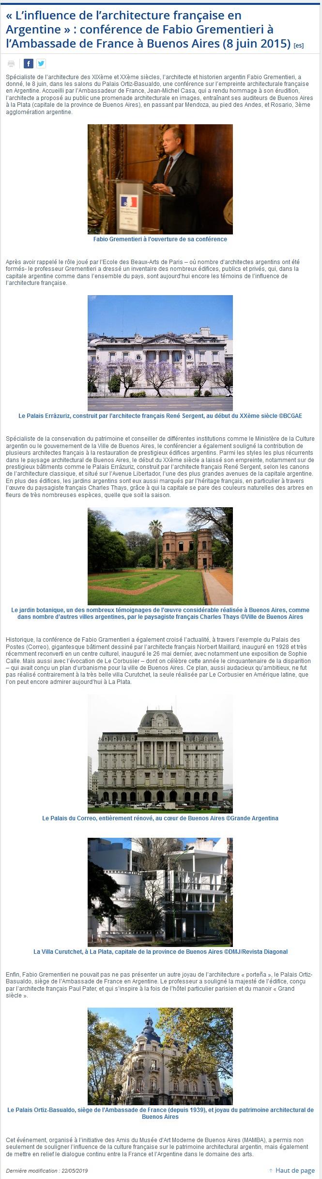« L'influence de l'architecture française en Argentine »  conférence de Fabio Grementieri à l'Ambassade de France à Buenos Aires (8 juin 2015).jpg