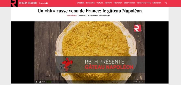 Un «hit» russe venu de France le gâteau Napoléon