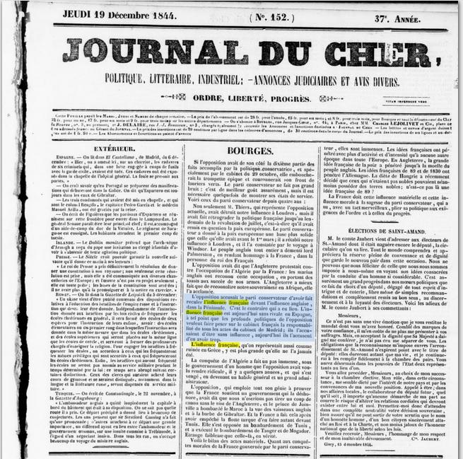 Journal du Cher_Bourges [19-12-1844]