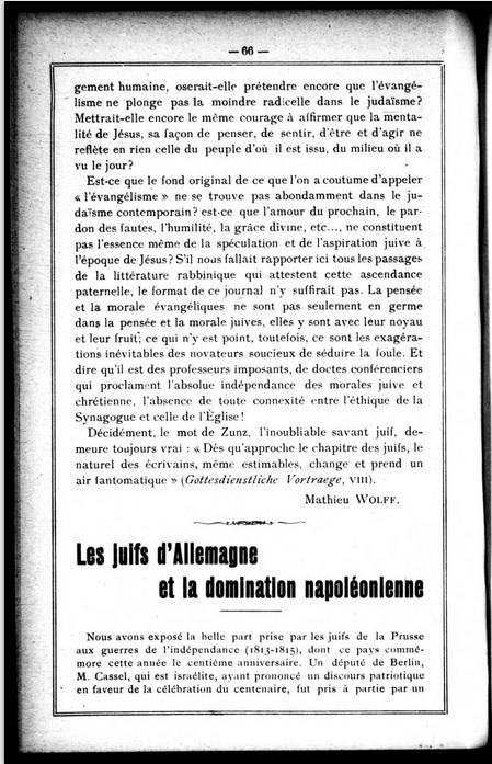 L'Univers israélite_les juifs d'Allemagne et la domination napoléonienne [09-05-1913]