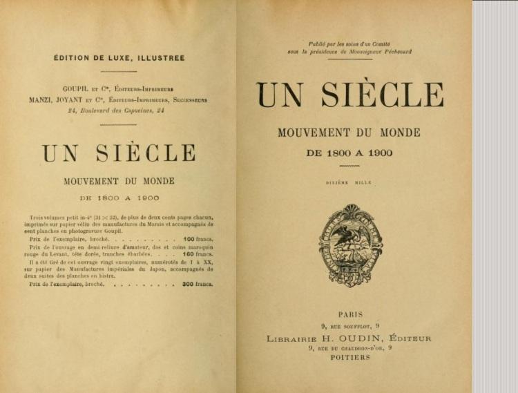 Un siècle mouvement du monde de 1800 à 1900 (coll., 1900)
